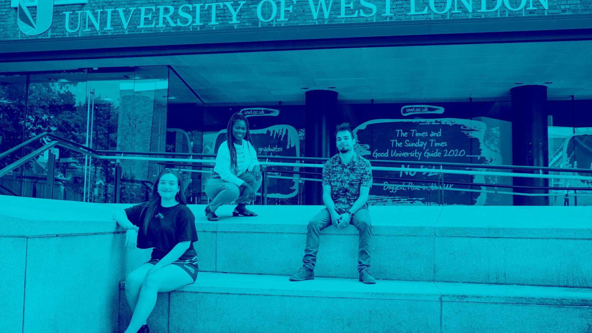 Your student representatives sat on the steps outside the UWL building